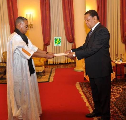 ولد القاضي يقدم أوراق اعتماده للرئيس الأثيوبي مولاتو تيشومي (وما)