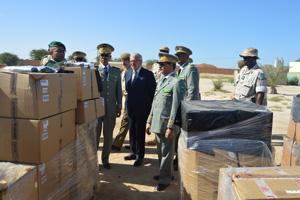 معدات عسكرية لحماية الأفراد مقدمة من أسبانيا للجيش الموريتاني