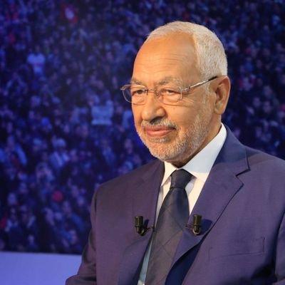 زعيم حزب النهضة التونسي الشيخ راشد الغنوشي