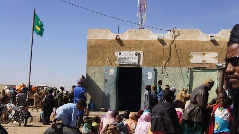 مكتب الشرطة في مدينة فصالة الحدودية مع مالي