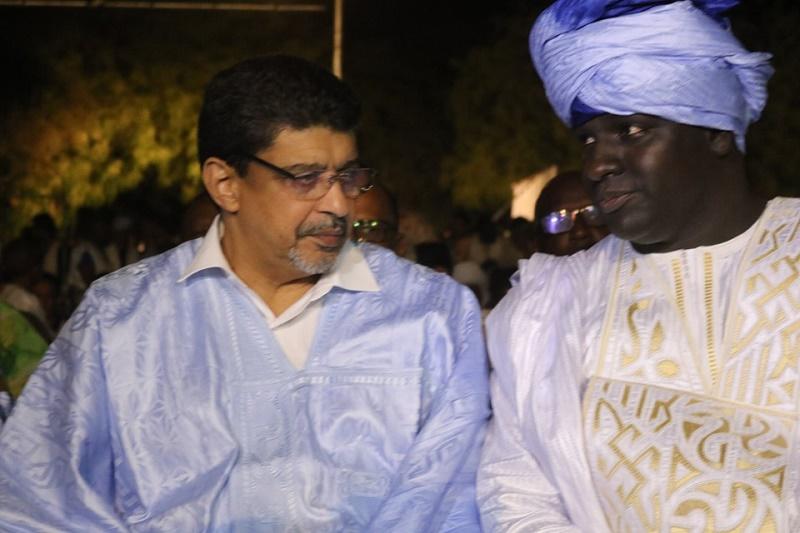 مدير مركز ترانيم المنظم للمهرجان ووزير الثقافة سيدي محمد ولد محم