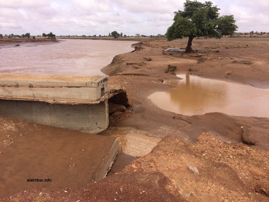 جسر جرفته السيولة في ولاية كيدماغا الأسبوع الماضي (الأخبار)