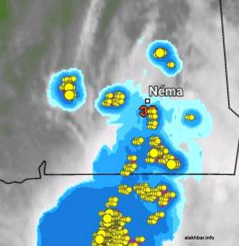 انتشار السحب في المناطق الشرقية من موريتانيا