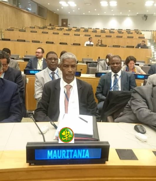 الوفد الموريتاني خلال حضوره الاجتماعات المخصصة لانتخاب اللجان (وما)