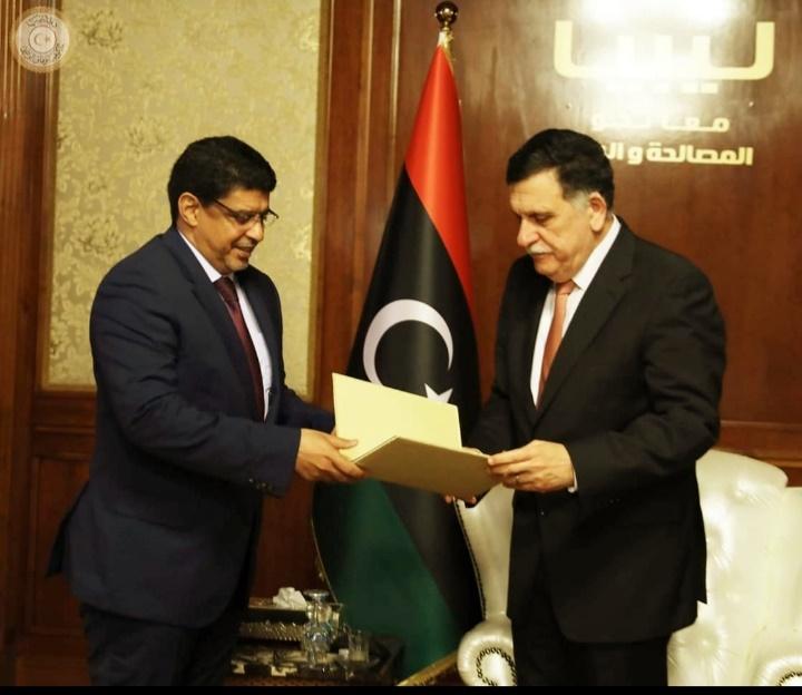 ولد محم يسلم رسالة خاصة لرئيسالمجلس الرئاسي لحكومة الوفاق الوطني في ليبيا فائز مصطفى السراج