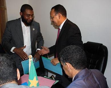 حفل توقيع اتفاقية إنشاء الشركة بين الحكومة الموريتانية وشركة كنانة السودانية منتصف 2011