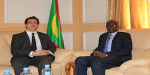وزير الدفاع جالو مامادو باتيا، والسفير البريطاني في موريتانيا سامييل توماس