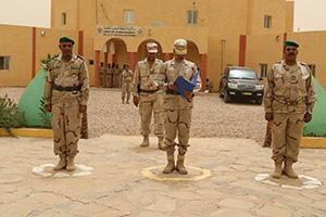 حفل تبادل المهام في المنطقة العسكرية الخامسة بمدينة النعمة شرقي موريتانيا