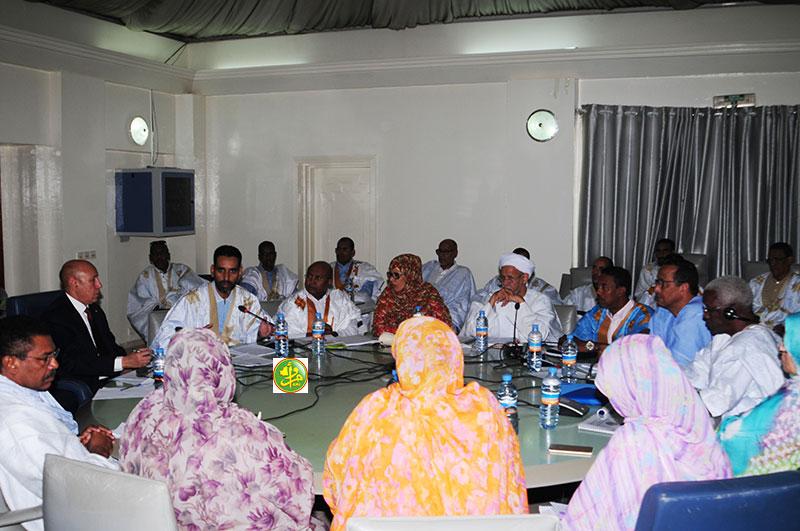 وزير الدفاع الموريتاني محمد ولد الغزواني أمام لجنة المالية في البرلمان اليوم (وما)