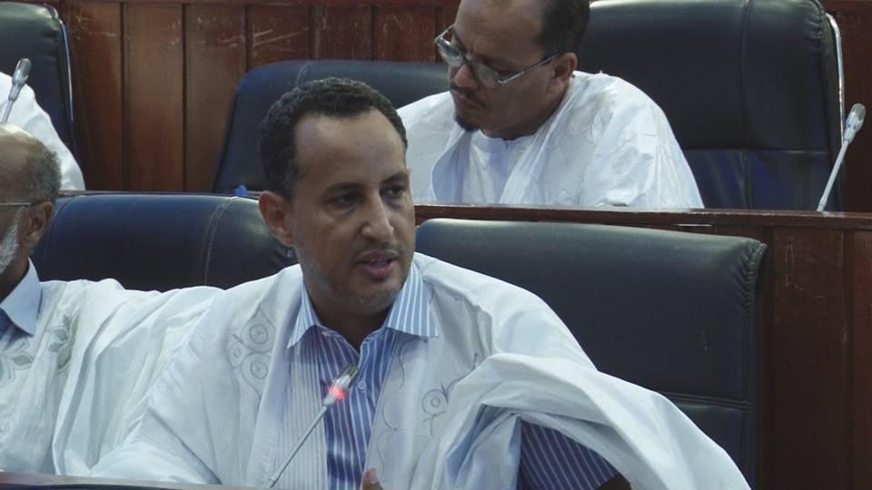 السيناتور محمد ولد غده خلال مداخلة له في مجلس الشيوخ