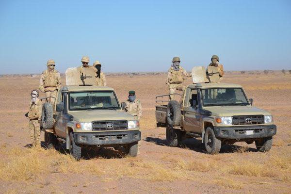 سيارات عسكرية تابعة للجيش الموريتاني