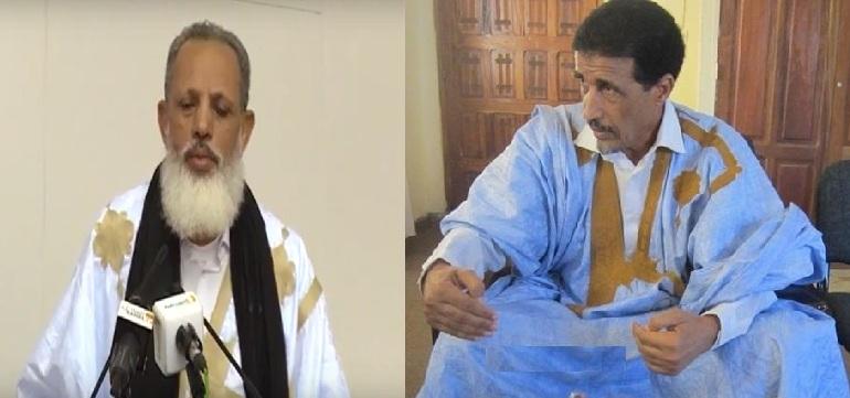 محمد ولد مولود الرئيس الدوري لمنتدى المعارضة، وعثمان الشيخ أحمد أبو المعالي الرئيس الدوري لائتلاف قوى الأغلبية