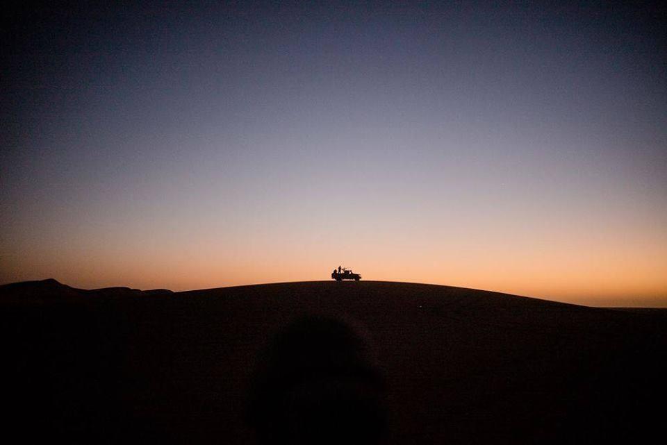 سيارة عسكرية تابعة للجيش الموريتاني على الحدود مع دولة مالي