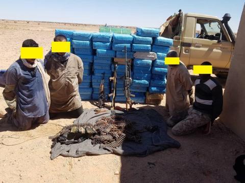 المجموعة الموقوفة من طرف وحدة من الجيش الصحراوي