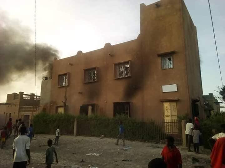 منزل تم إحراقه في مدينة تمبكتو شمال مالي