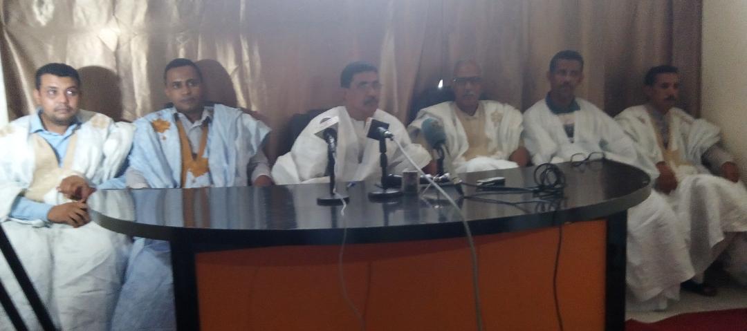 لجنة الأزمة خلال مؤتمرها الصحفي مساء اليوم بنواكشوط