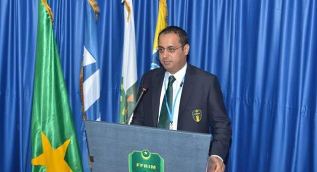 أحمد ولد يحي رئيس الاتحاد الموريتانية لكرة القدم