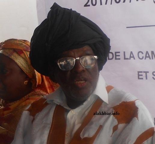 رئيس حزب الوئام، ورئيس وفد المعارضة في لجنة متابعة الحوار بيجل ولد هميد (الأخبار - أرشيف)