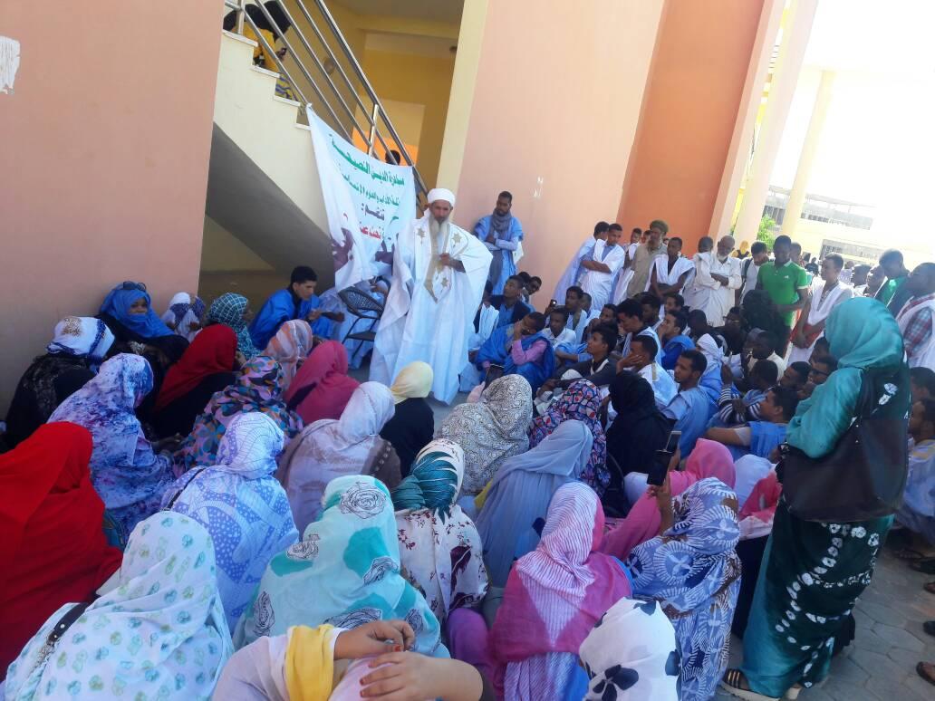 جانب من الحضور خلال انطلاق الحملة الدعوية.