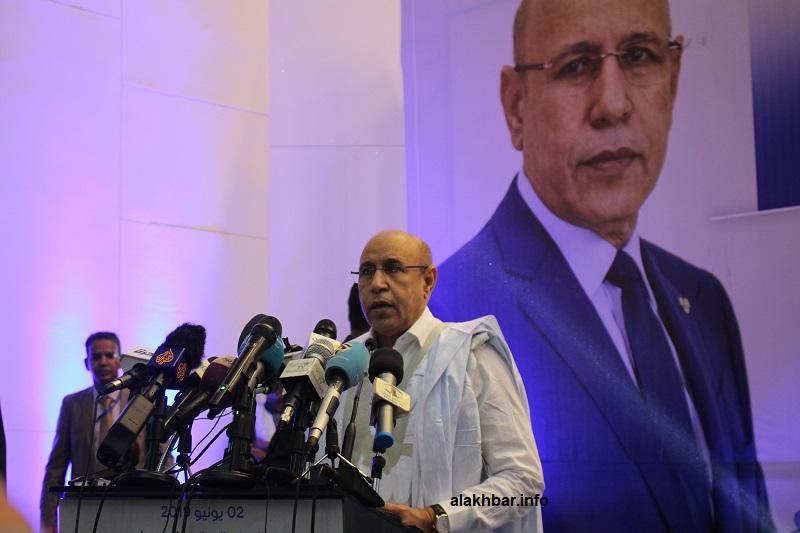 أعلنت لجنة الانتخابات البارحة فوز المرشح غزواني في الشوط الأول بنسبة 52.01%