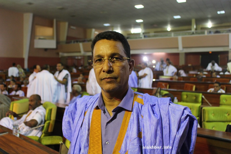 رئيس الكتلة البرلمانية لحزب الاتحاد من أجل الجمهورية محمد يحي ولد الخرشي (الأخبار - أرشيف)