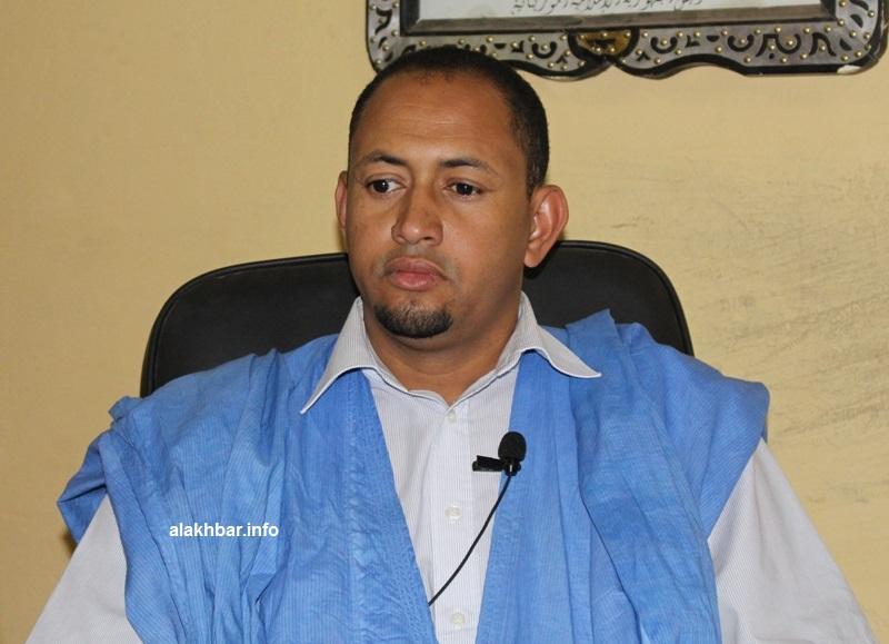 عمدة بلدية كوبني بولاية الحوض الغربي عثمان ولد سيد أحمد لحبيب خلالال حديثه للأخبار مساء الأربعاء