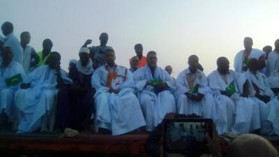 جانب من حضور قادة تنسيقية المعارضة مساء اليوم في نواذيبو (تصوير الأخبار)