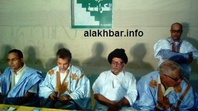 جانب المؤتمر من الصحفي الذي عقده النائب البرلماني القاسم ولد بلالي (تصوير الأخبار)