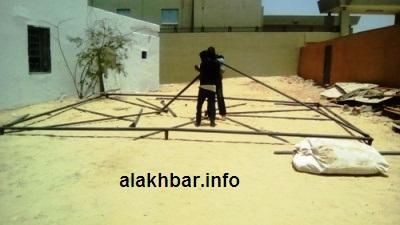 جانب من الاستعداد في حزب الغد في نواذيبو / تصوير الأخبار