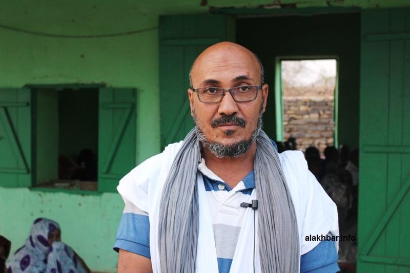عمدة بلدية النعمةإبراهيم ولد محمد الملقب إزيد بيه خلال تصريحه للأخبار على هامش النشاط
