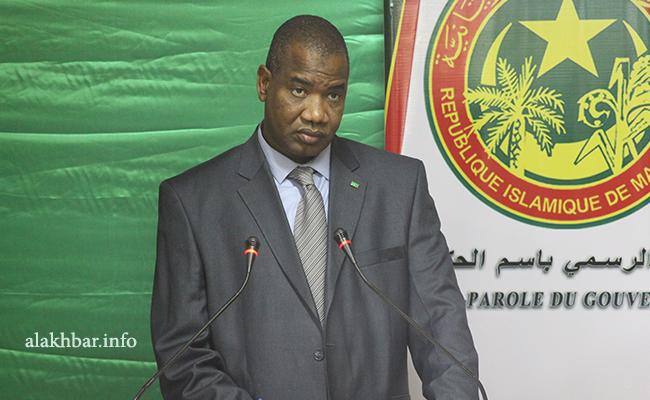 وزير الثقافة والصناعة التقليدية والعلاقات مع البرلمان الدكتور سيد محمد ولد الغابر (الأخبار - أرشيف)