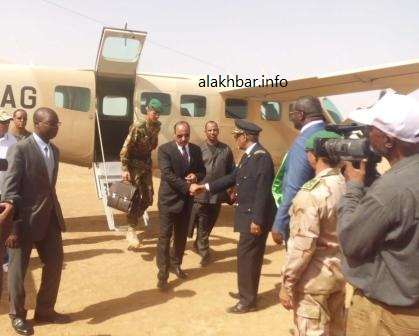 زيارة سابقة أداها الرئيس الموريتاني لإحدى مدن الداخل (أرشيف / الأخبار)
