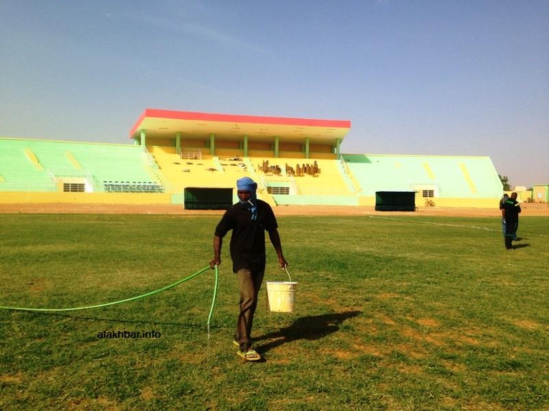 ملعب مدينة كيهيدي صباح اليوم حيث التحضيرات جارية لاستضافة كأس السوبر (الأخبار)