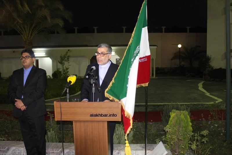 السفير الإيراني في نواكشوط محمد عمراني خلال كلمته في تخليد اليوم العالمي للقدس (الأخبار)