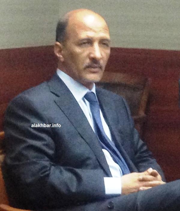 وزير التهذب في موريتانيا إسلم ولد سيدي المختار خلال المؤتمر الصحفي للحكومة مساء اليوم (الأخبار)