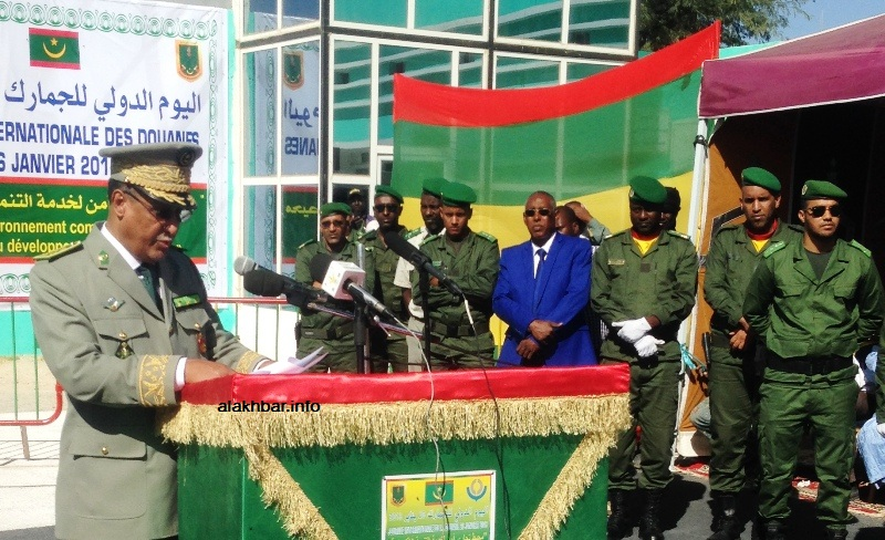 المدير العام للجمارك في موريتانيا اللواء الداه ولد المامي خلال خطابه اليوم في حفل تخليد العيد الدولي للجمارك (الأخبار)