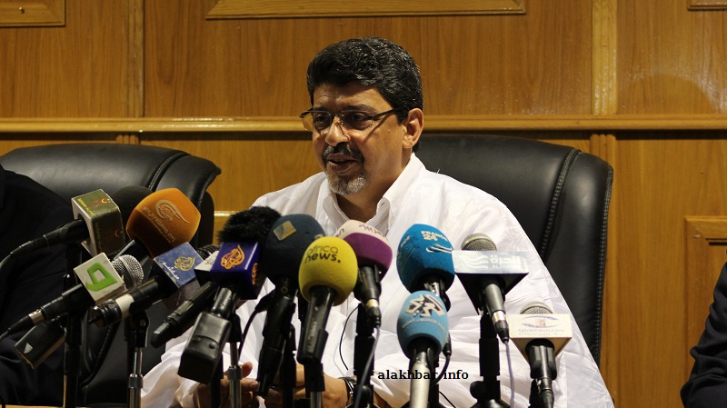 رئيس حزب الاتحاد من أجل الجمهورية سيدي محمد ولد محم (الأخبار)