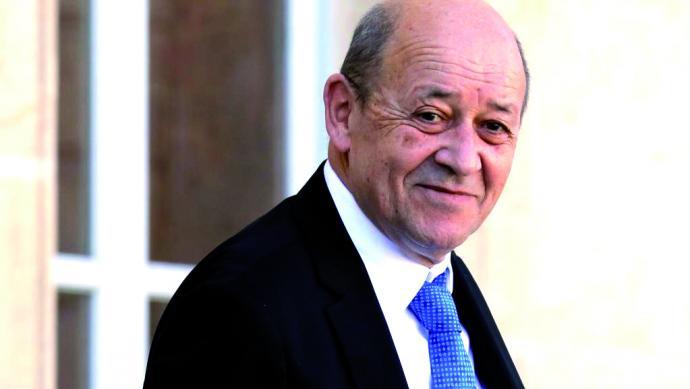 جان ايف لودريان وزير الخارجية الفرنسي.