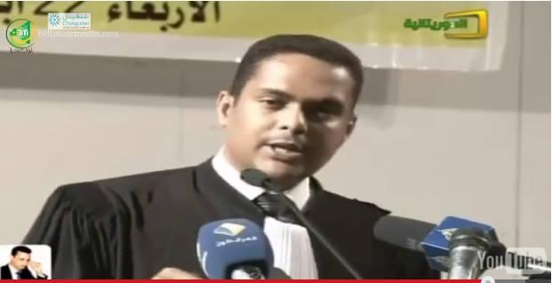 عضو الدفاع عن ولد غده المحامي محمد المامي ولد مولاي اعلي