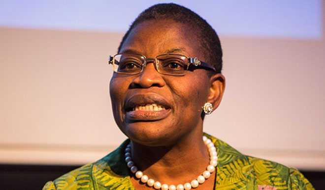 أوبي إيزيكويسيلي المترشحة المنسحبة من السباق الرئاسي بنيجيريا.
