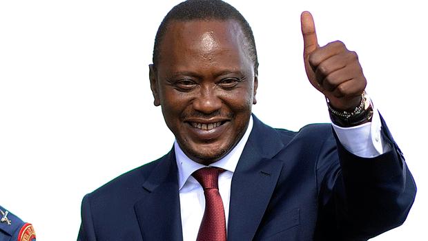 الرئيس الكيني الفائز بمأمورية ثانية أوهورو كينياتا.