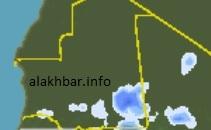 توضح الصورة خارطة توزع الأمطار المتوقعة فجر الثانى من يوليو ـ (الأخبار)