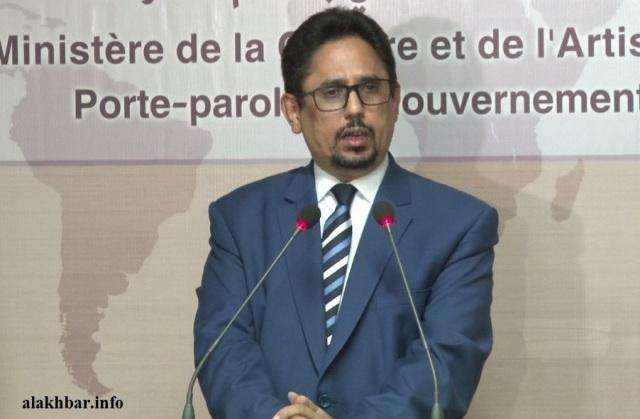 محمد الأمين ولد الشيخ الناطق الرسمي باسم الحكومة الموريتانية.