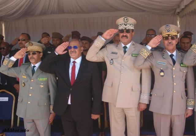 قادة أركان الجيش والدرك والحرس، والمدير العام للأمن ـ (أرشيف الأخبار)