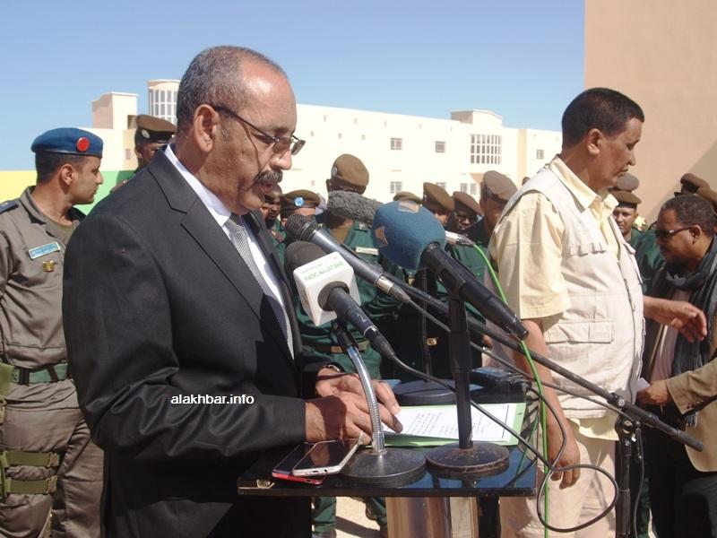 وزير الداخلية واللامركزية أحمد ولد عبد الله خلال نشاط عمومي سابق (الأخبار - أرشيف)