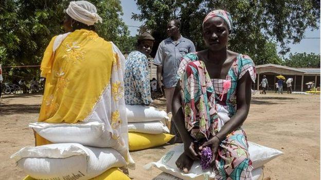 نيجيريات لاجئات بالكاميرون.