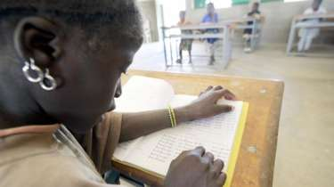 قسم دراسي بإحدى المدارس التابعة لولاية سوم شمال بوركينافاسو.
