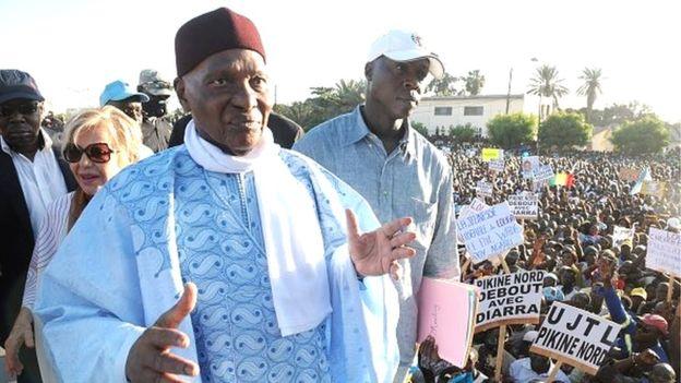 الرئيس السنغالي السابق عبد الله واد.