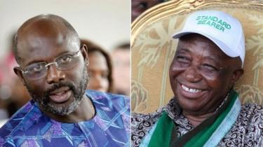 جوزيف بواكي وجورج ويا المتنافسان في الشوط الثاني من الانتخابات الرئاسية الليبيرية.