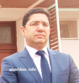 وزير الشؤون الخارجية والتعاون المغربي ناصر بوريطة خلال زيارته لموريتانيا في ديسمبر 2016 ـ (أرشيف الأخبار)